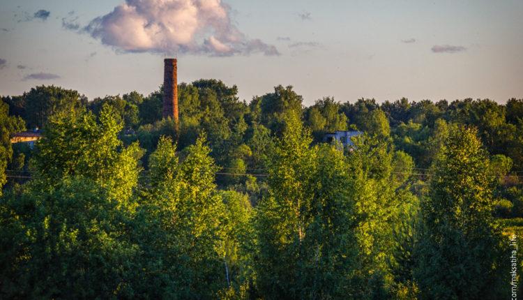 Вид на Максатиху из д.Фабрика.